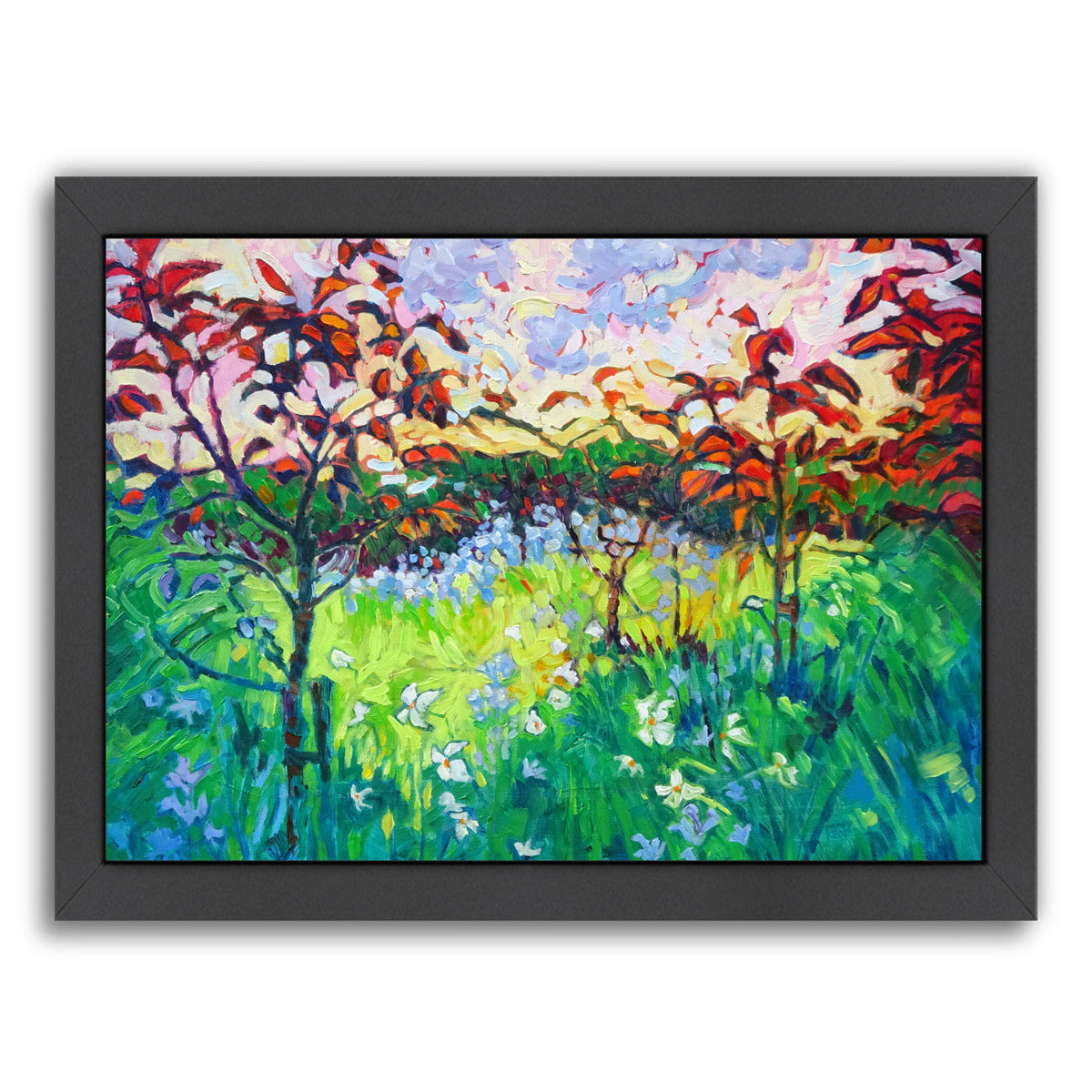 "Garden At Houghton Hall By Mary Kemp - Black Framed Print, Wall Art, Mary Kemp, 8"" x 10"""