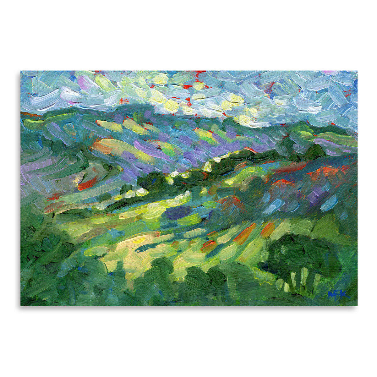 Hillside by Mary Kemp - Art Print - Americanflat