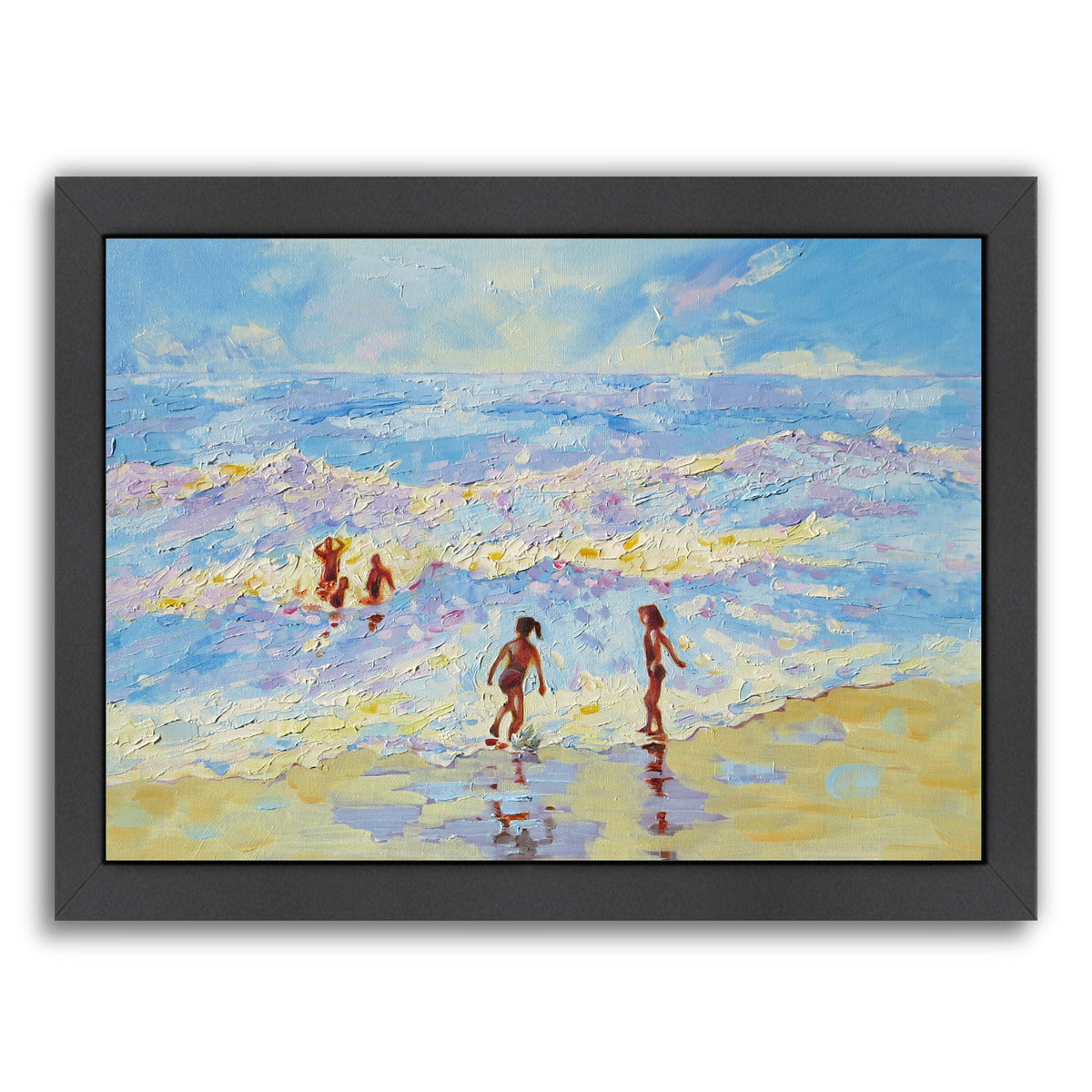 Summer Holiday By Mary Kemp - Black Framed Print - Wall Art - Americanflat