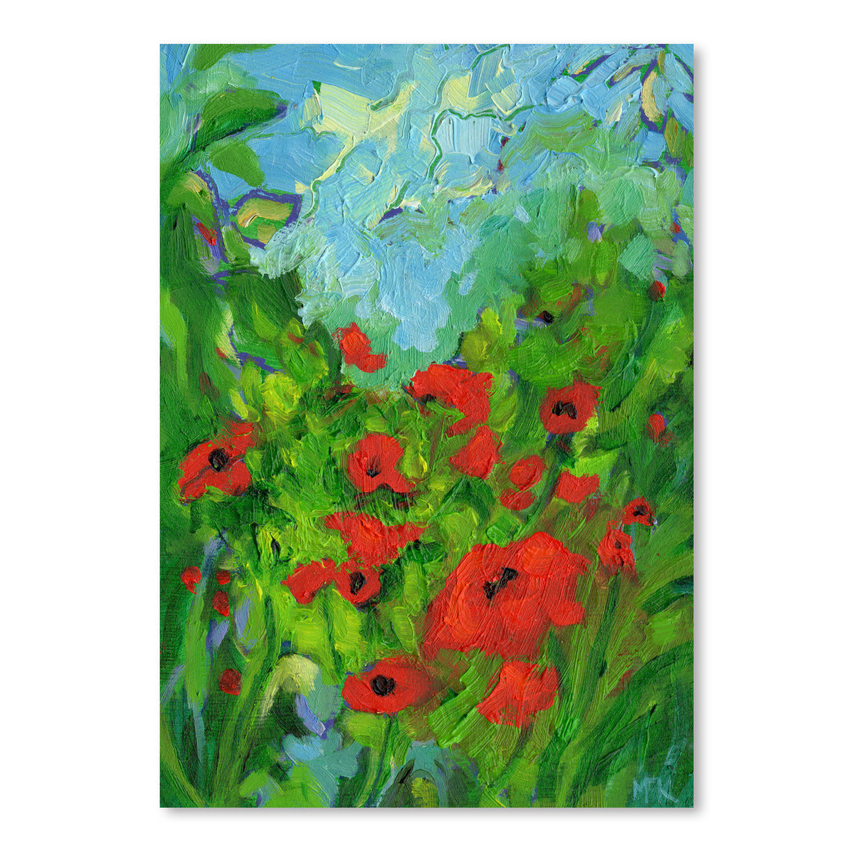 Twenty One Poppies by Mary Kemp - Art Print - Americanflat