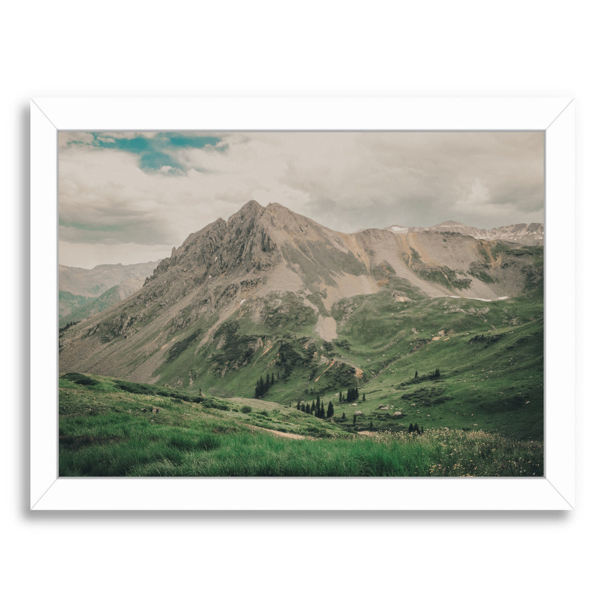 Colorado By Natalie Allen - White Framed Print - Wall Art - Americanflat