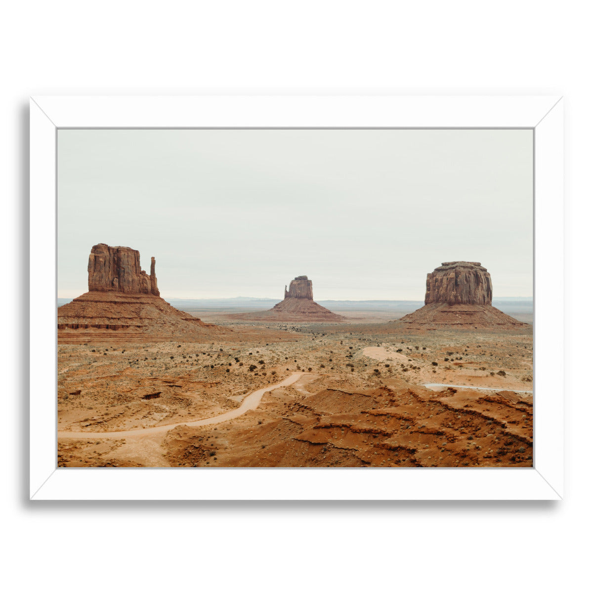 "Monument Valley By Natalie Allen - White Framed Print, Wall Art, Natalie Allen, 8"" x 10"""