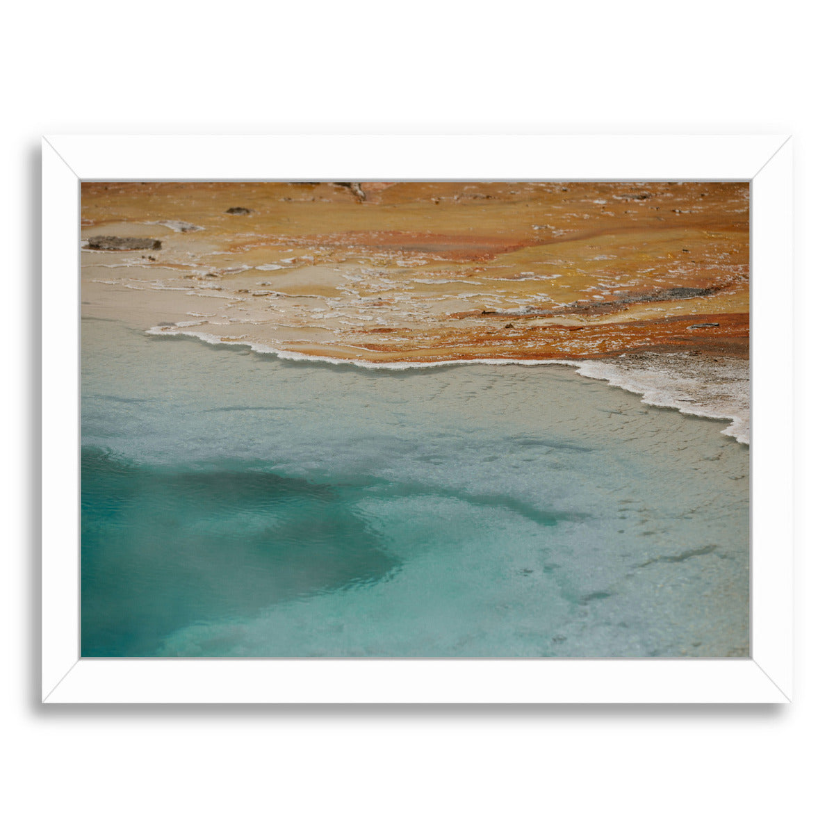 Yellow Stone National Park By Natalie Allen - White Framed Print - Wall Art - Americanflat