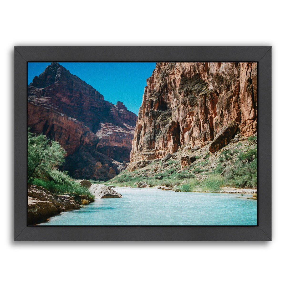 Little Colorado River By Natalie Allen - Black Framed Print - Wall Art - Americanflat