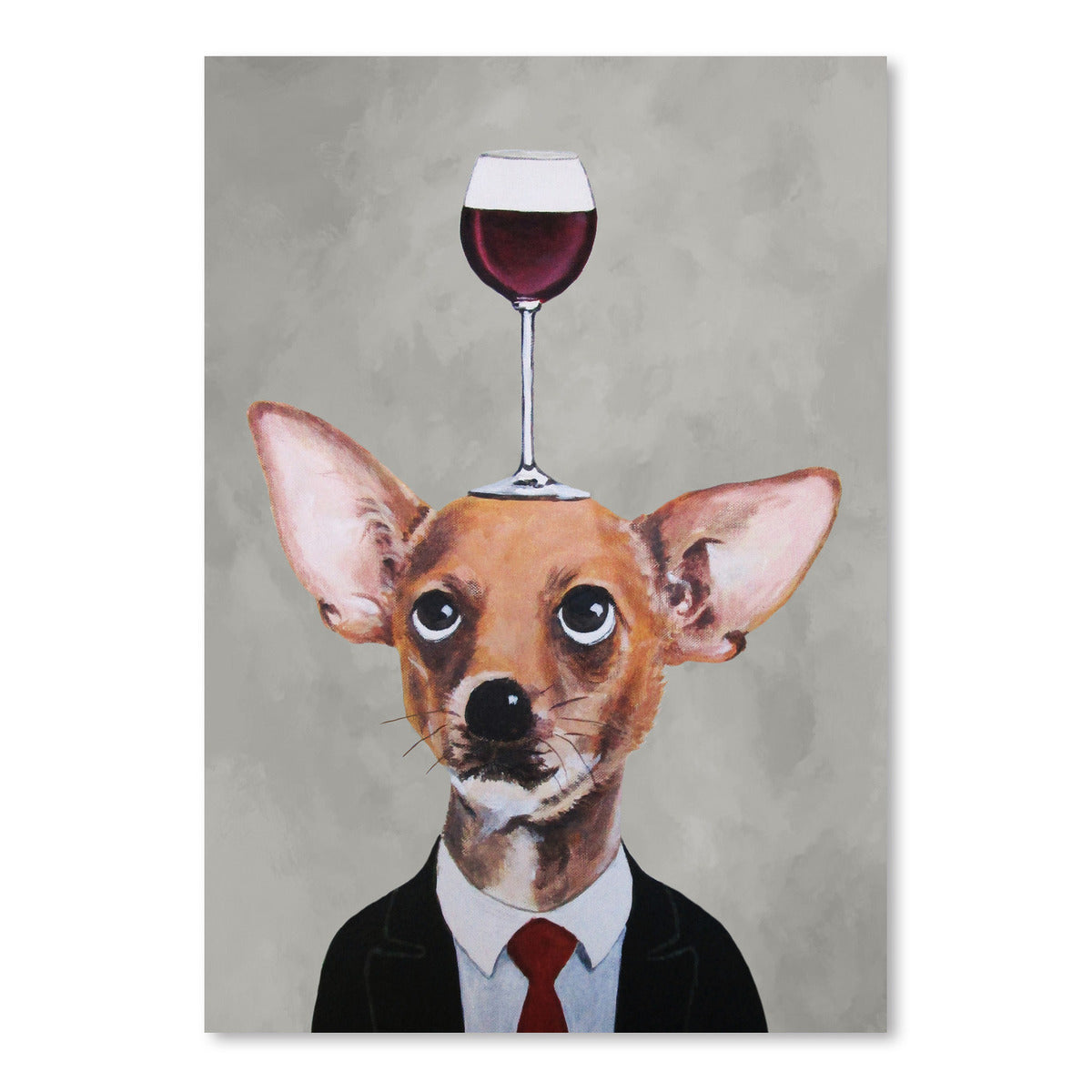 Chihuahua With Wineglass by Coco de Paris - Art Print - Americanflat
