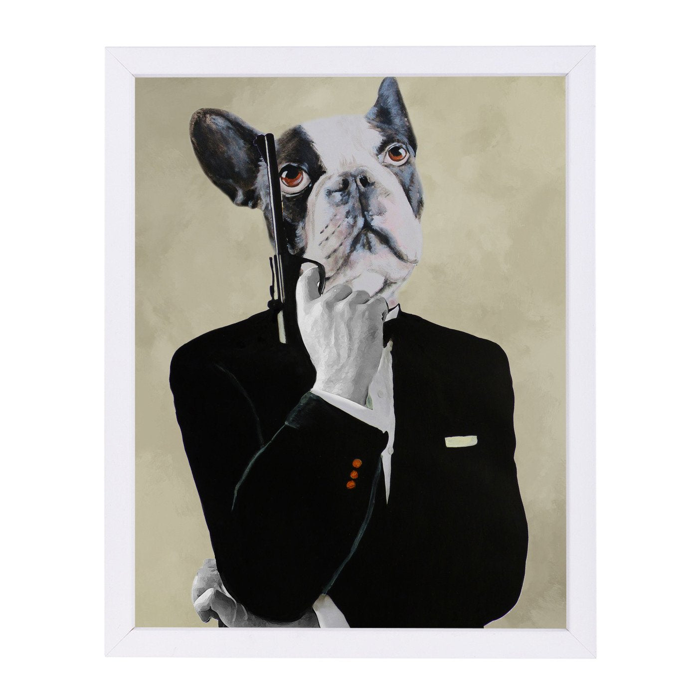 James Bond Bulldog By Coco De Paris - Framed Print - Americanflat