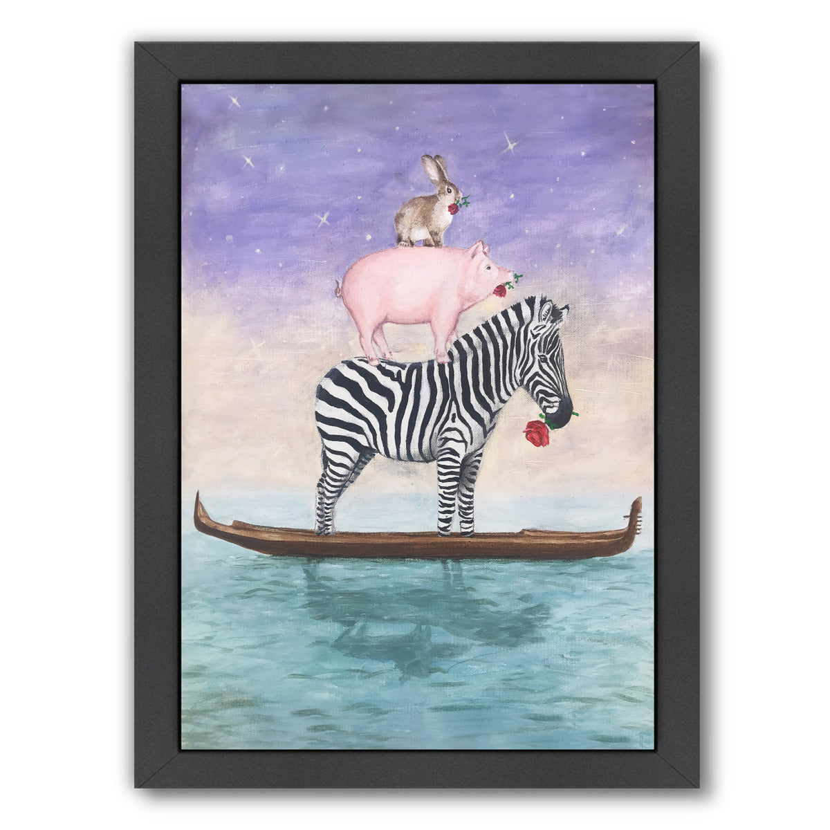Noah Forgot Some Animals By Coco De Paris - Black Framed Print - Wall Art - Americanflat