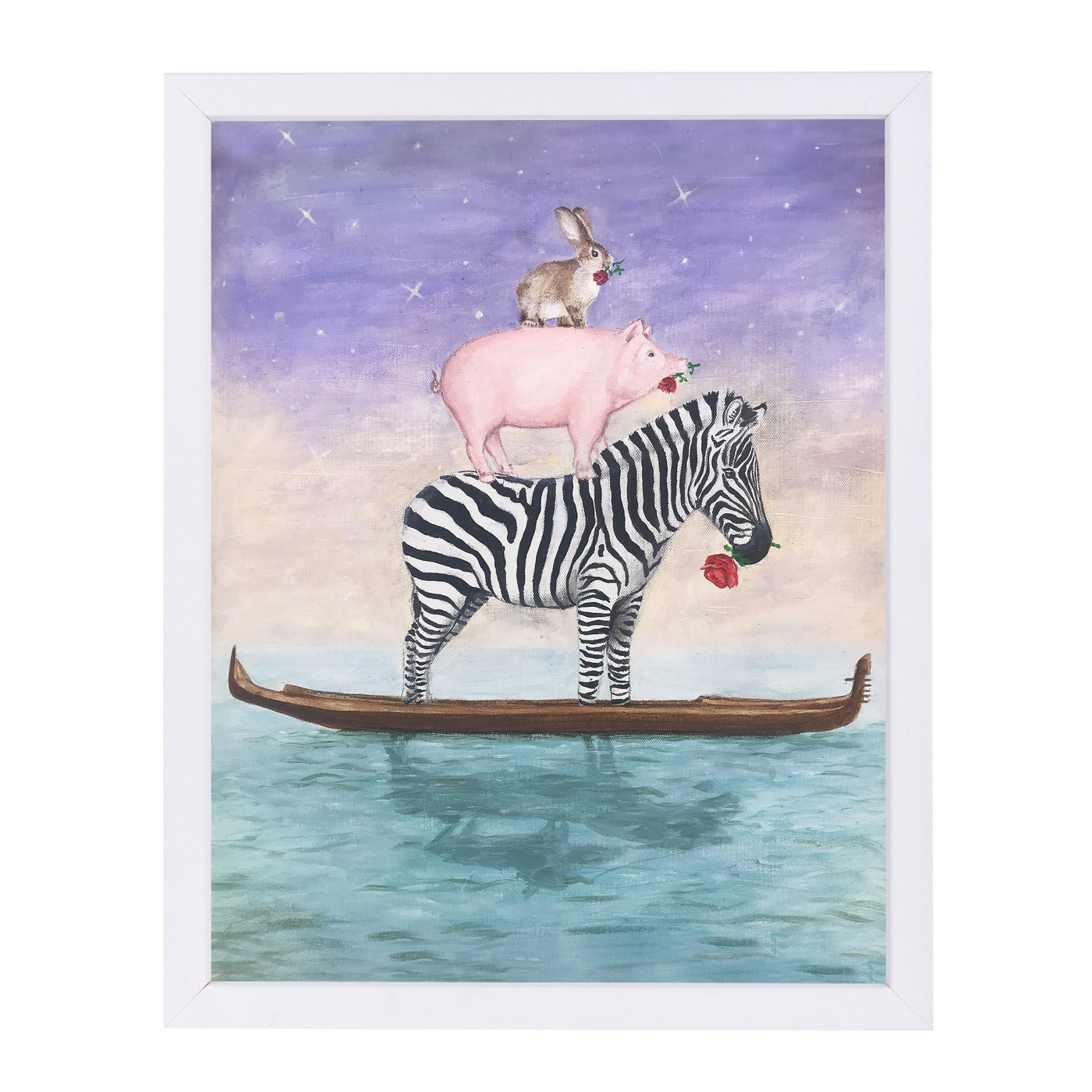 Noah Forgot Some Animals By Coco De Paris - White Framed Print - Wall Art - Americanflat