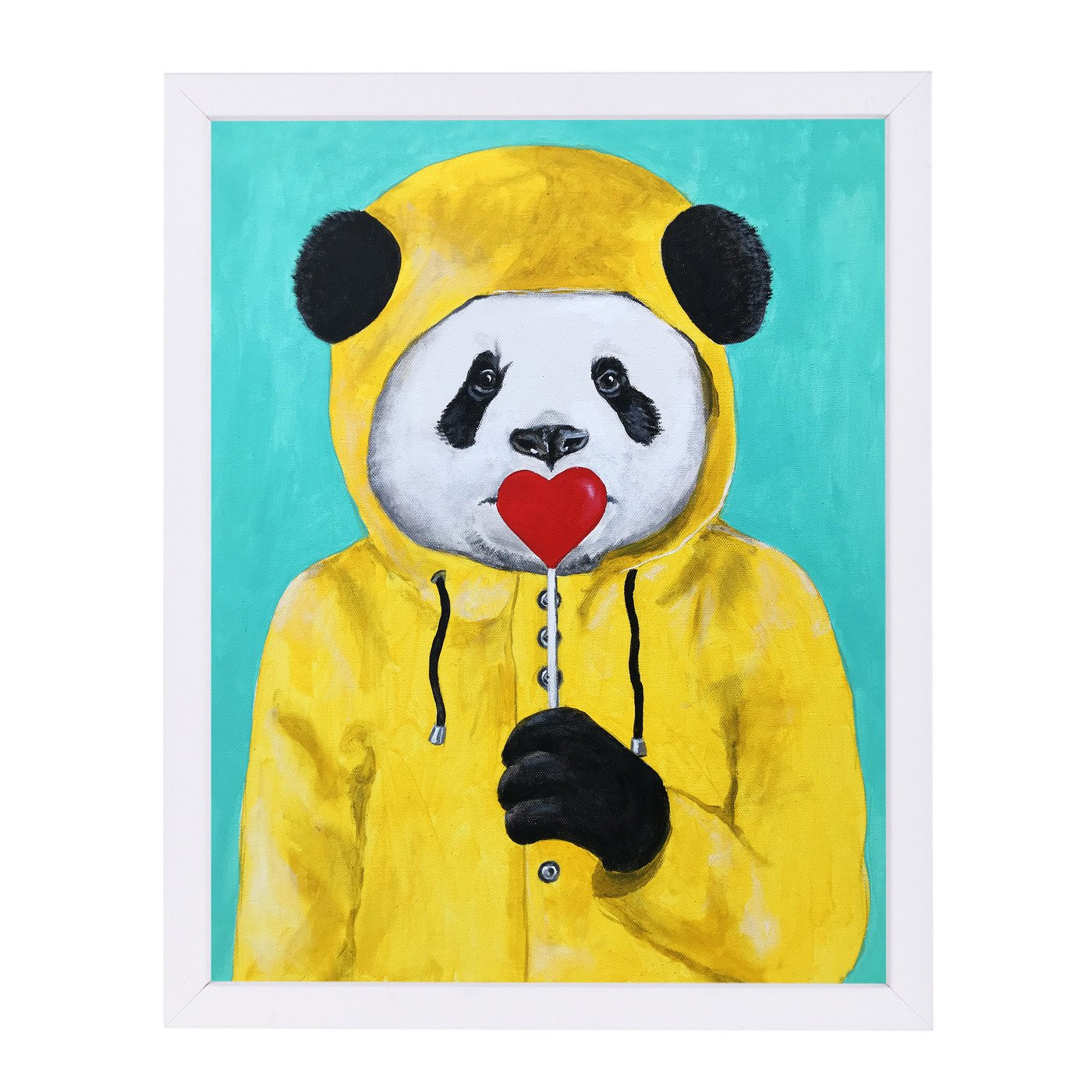 Panda With Lollipop By Coco De Paris - Framed Print - Americanflat