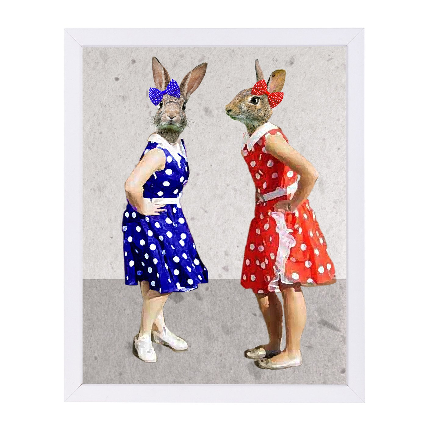 Rabbits Rock & Roll By Coco De Paris - Framed Print - Americanflat