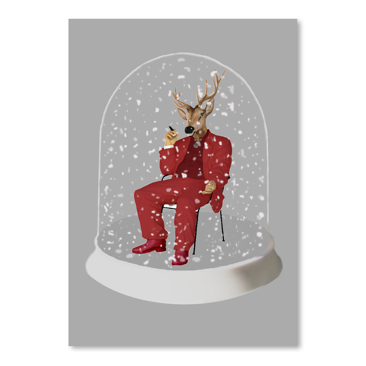 Snowball Deer by Coco de Paris - Art Print - Americanflat