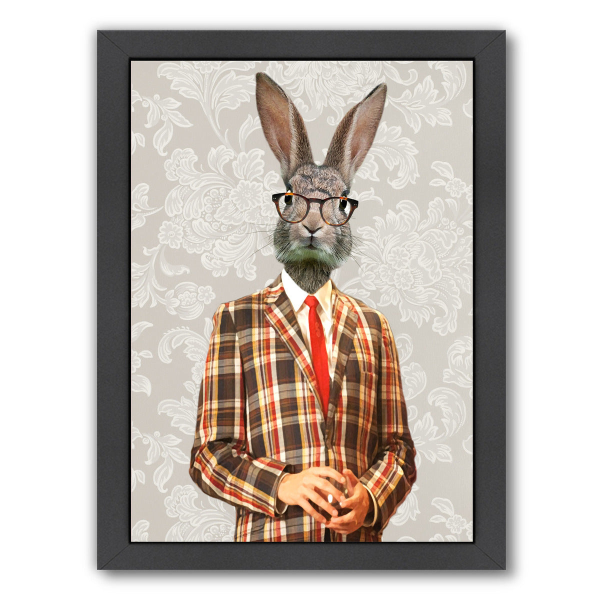 Vintage Rabbit Man By Coco De Paris - Black Framed Print - Wall Art - Americanflat