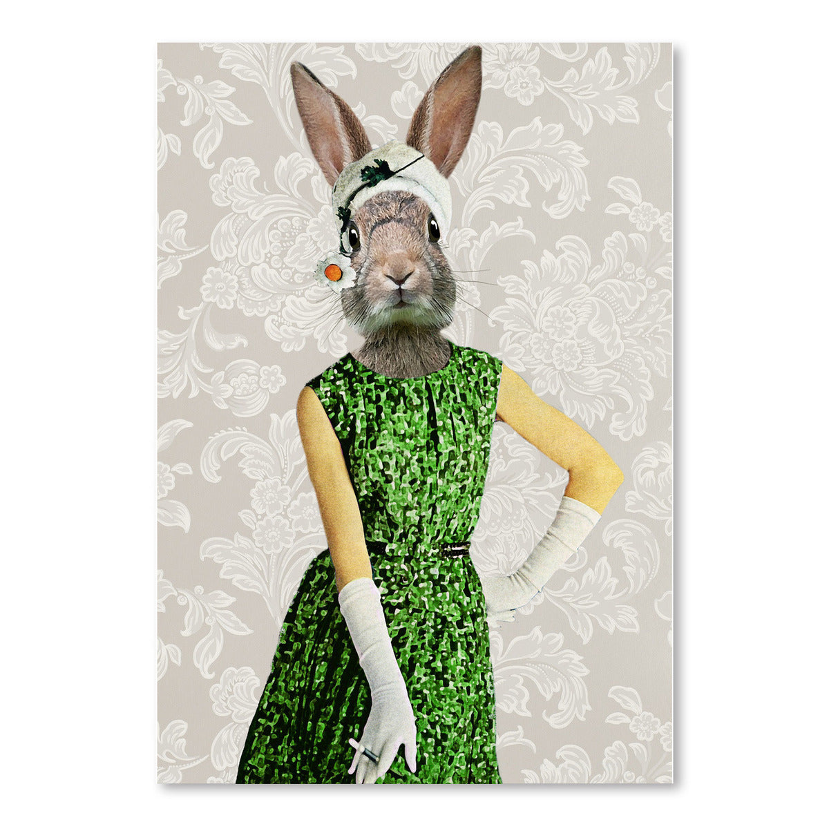 Vintage Rabbit Woman by Coco de Paris - Art Print - Americanflat