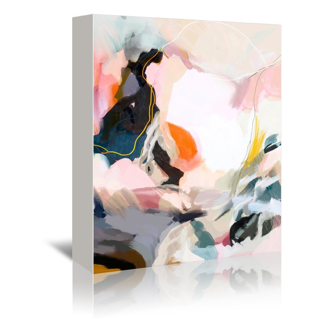 Apricot Dawn By Louise Robinson Wrapped Canvas - Wrapped Canvas - Americanflat