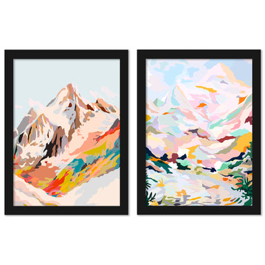 Glass Mountains by Louise Robinson - 2 Piece Framed Print Set - Americanflat