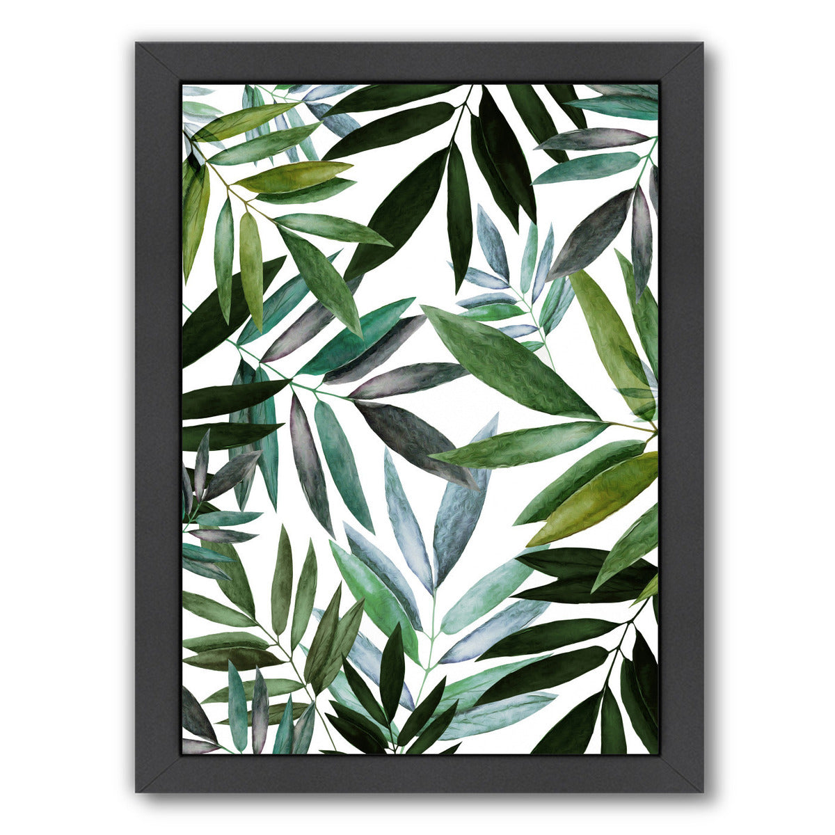 Green by Louise Robinson - Black Framed Print - Wall Art - Americanflat