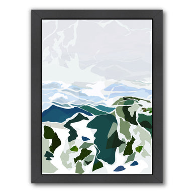 "Green Mountains by Louise Robinson - Black Framed Print, Wall Art, Louise Robinson, 8"" x 10"""