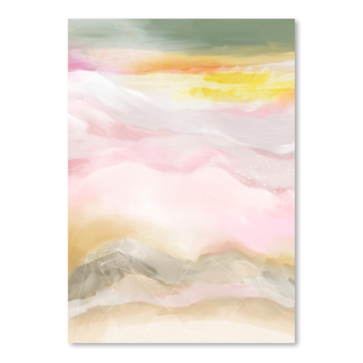 Pink Mountains by Louise Robinson - Art Print - Americanflat
