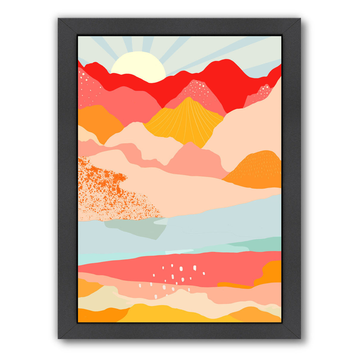 Sunrise by Louise Robinson - Black Framed Print - Wall Art - Americanflat