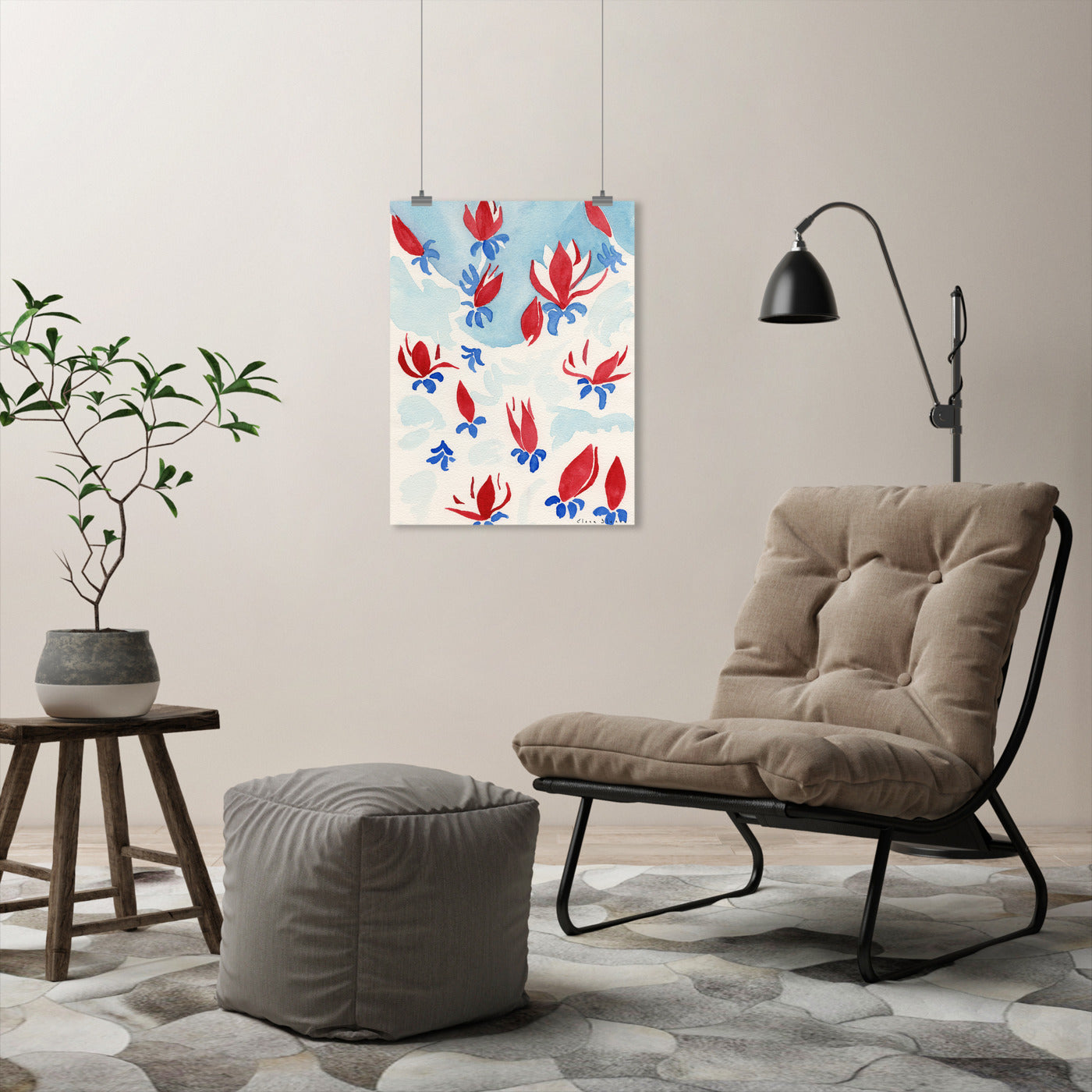 Red Magnolias by Dreamy Me - Art Print - Americanflat