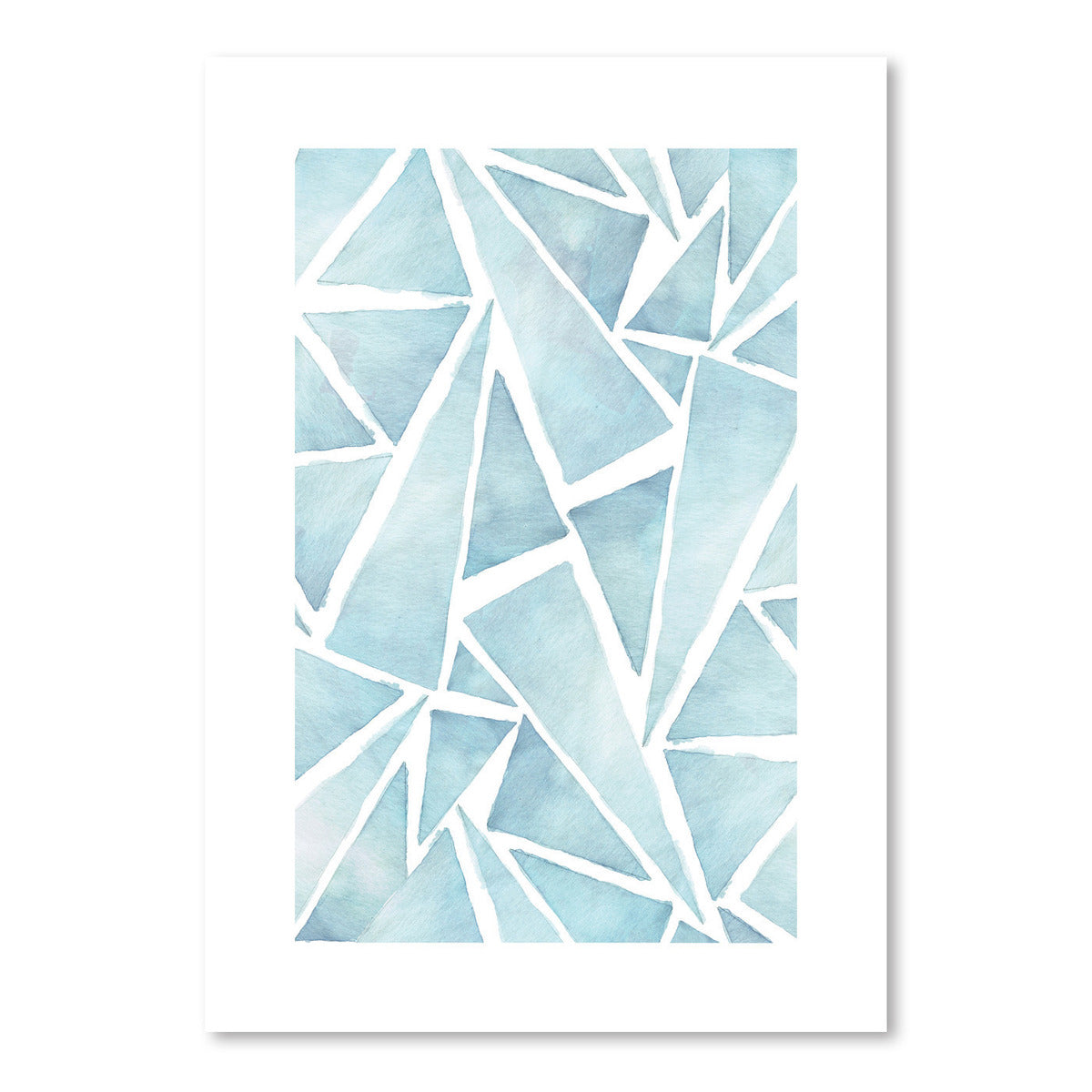 Triangle In Blue by Tanya Shumkina - Art Print - Americanflat