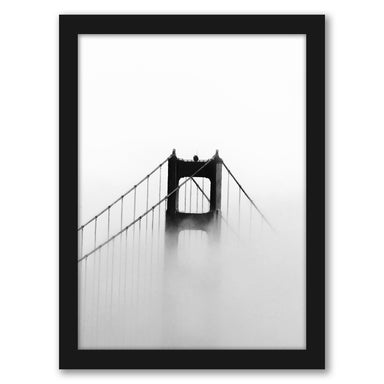 Golden Gate In Fog by Tanya Shumkina - Black Framed Print - Wall Art - Americanflat