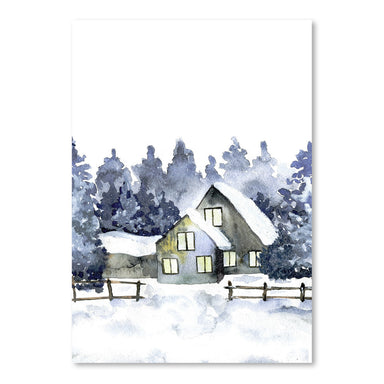 Watercolor Forest Home by Tanya Shumkina - Art Print - Americanflat