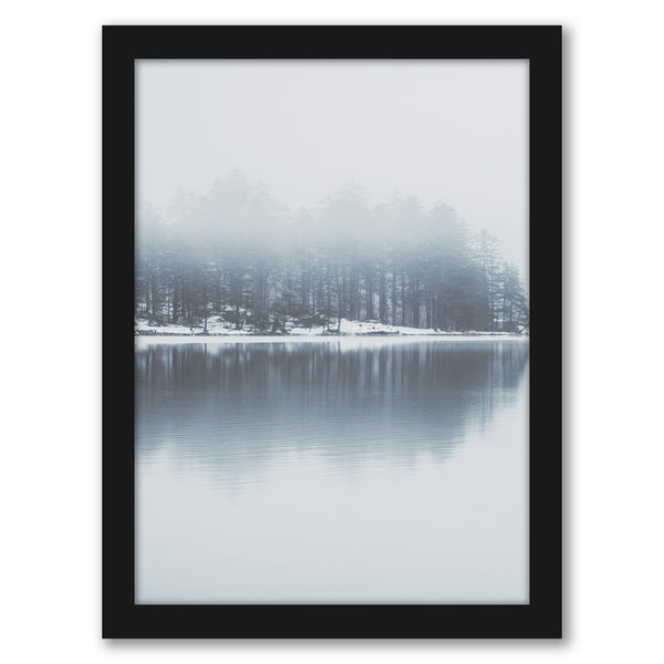 "Trees On Lake by Tanya Shumkina - Black Framed Print, Wall Art, Tanya Shumkina, 8"" x 10"""