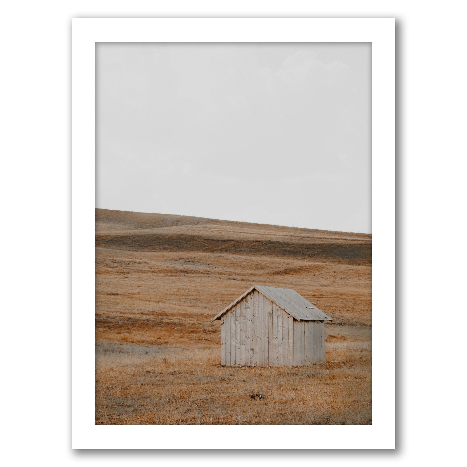 Farmhouse Landscape by Tanya Shumkina - White Framed Print - Wall Art - Americanflat