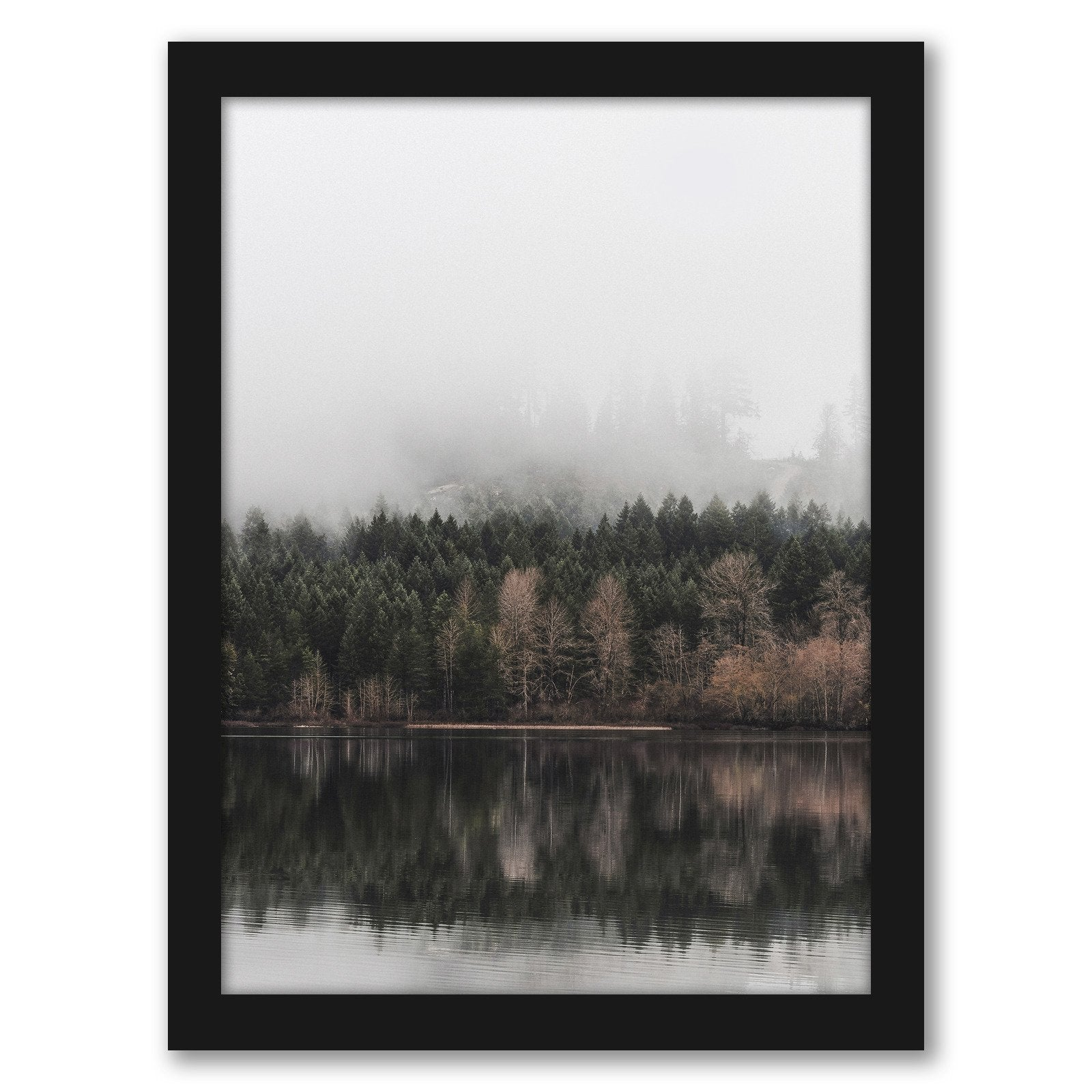 Autumn Fog by Tanya Shumkina - Black Framed Print - Wall Art - Americanflat