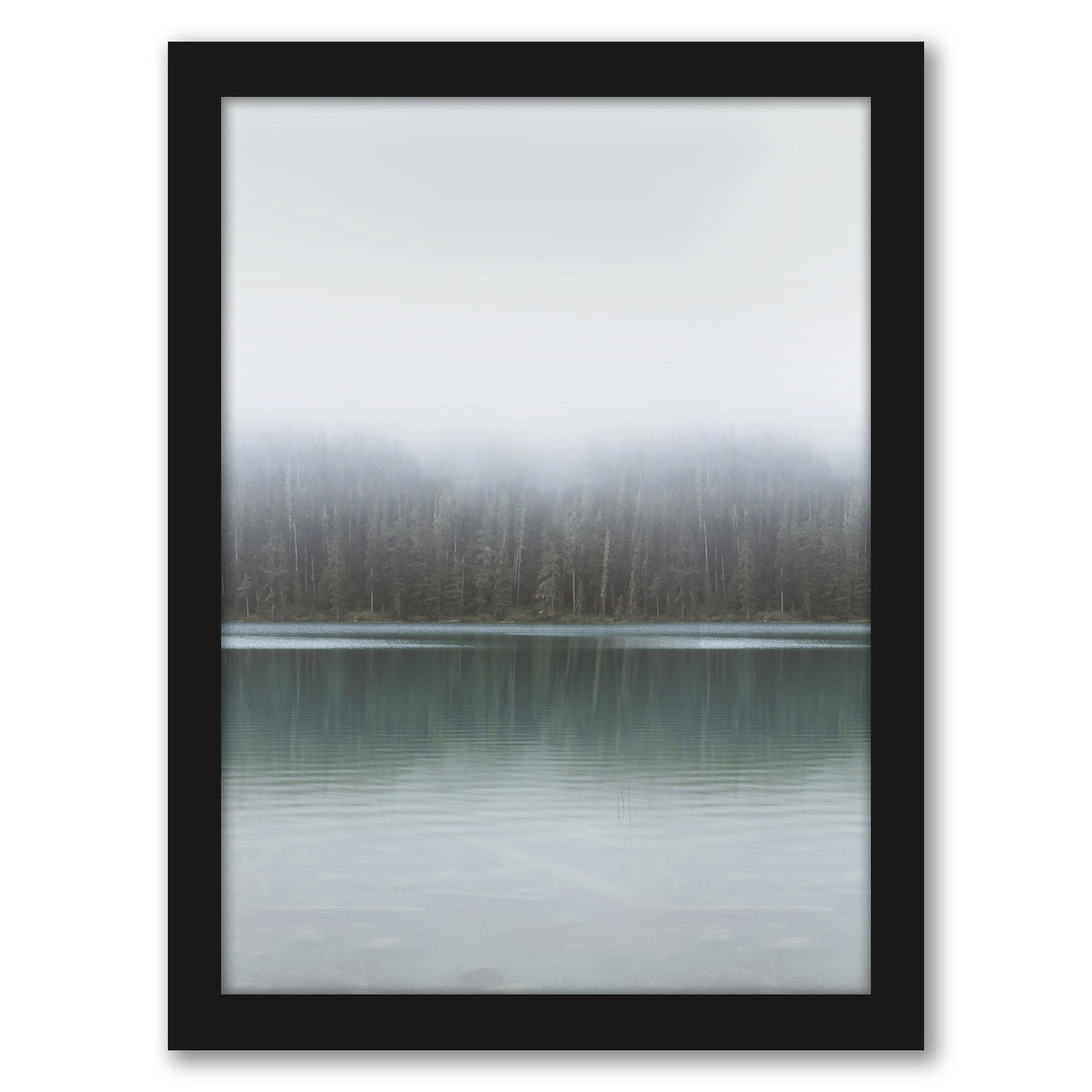 "Winter Lake by Tanya Shumkina - Black Framed Print, Wall Art, Tanya Shumkina, 8"" x 10"""