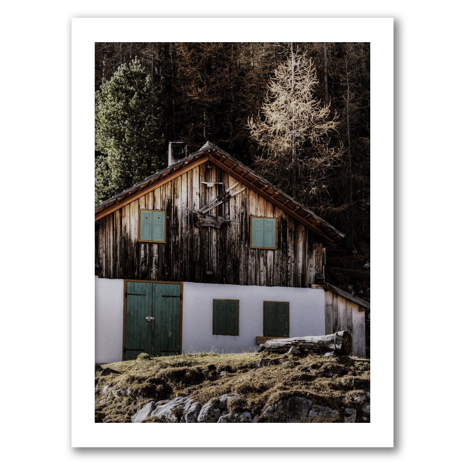 Old Barn by Tanya Shumkina - White Framed Print - Wall Art - Americanflat