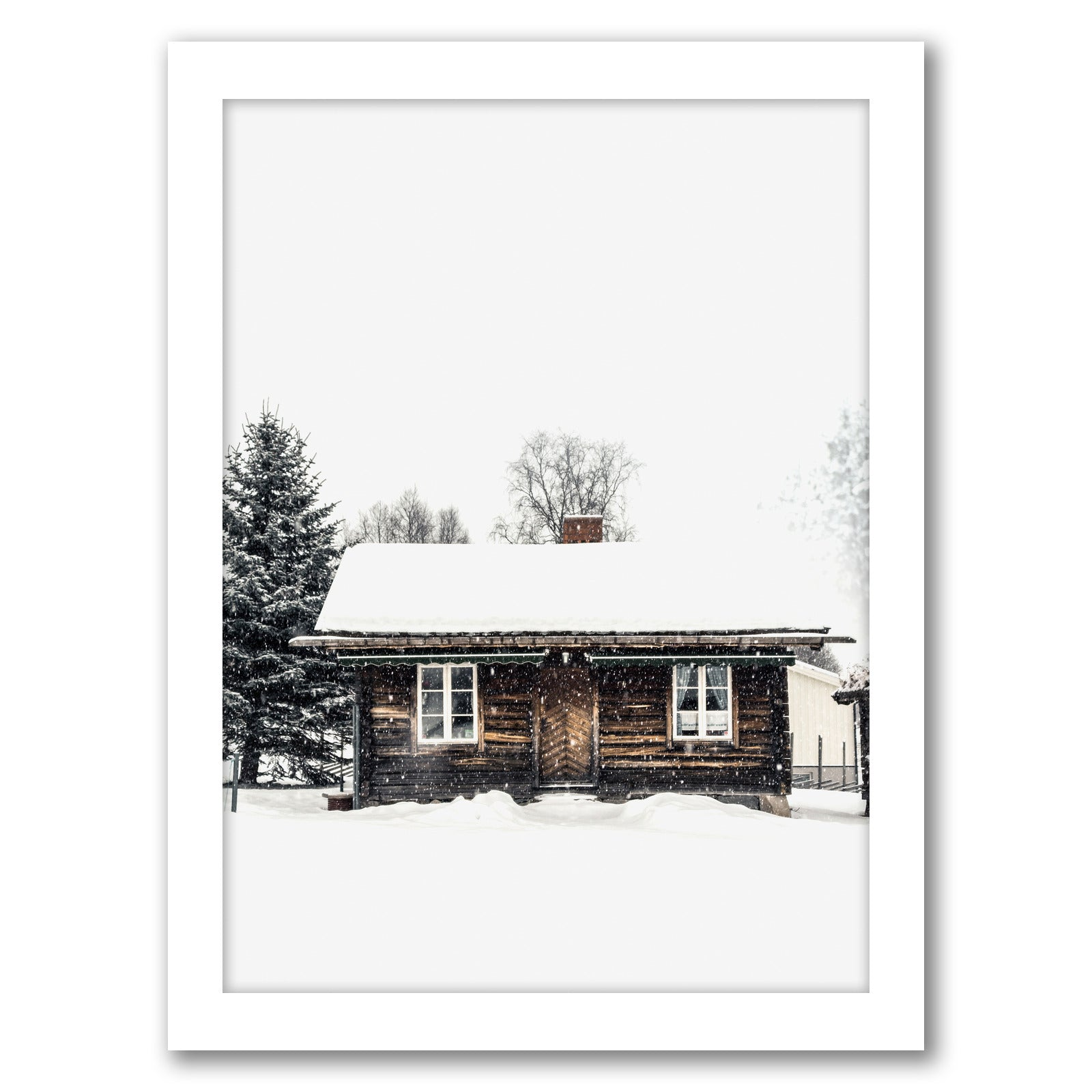 Winter Decor by Tanya Shumkina - White Framed Print - Wall Art - Americanflat