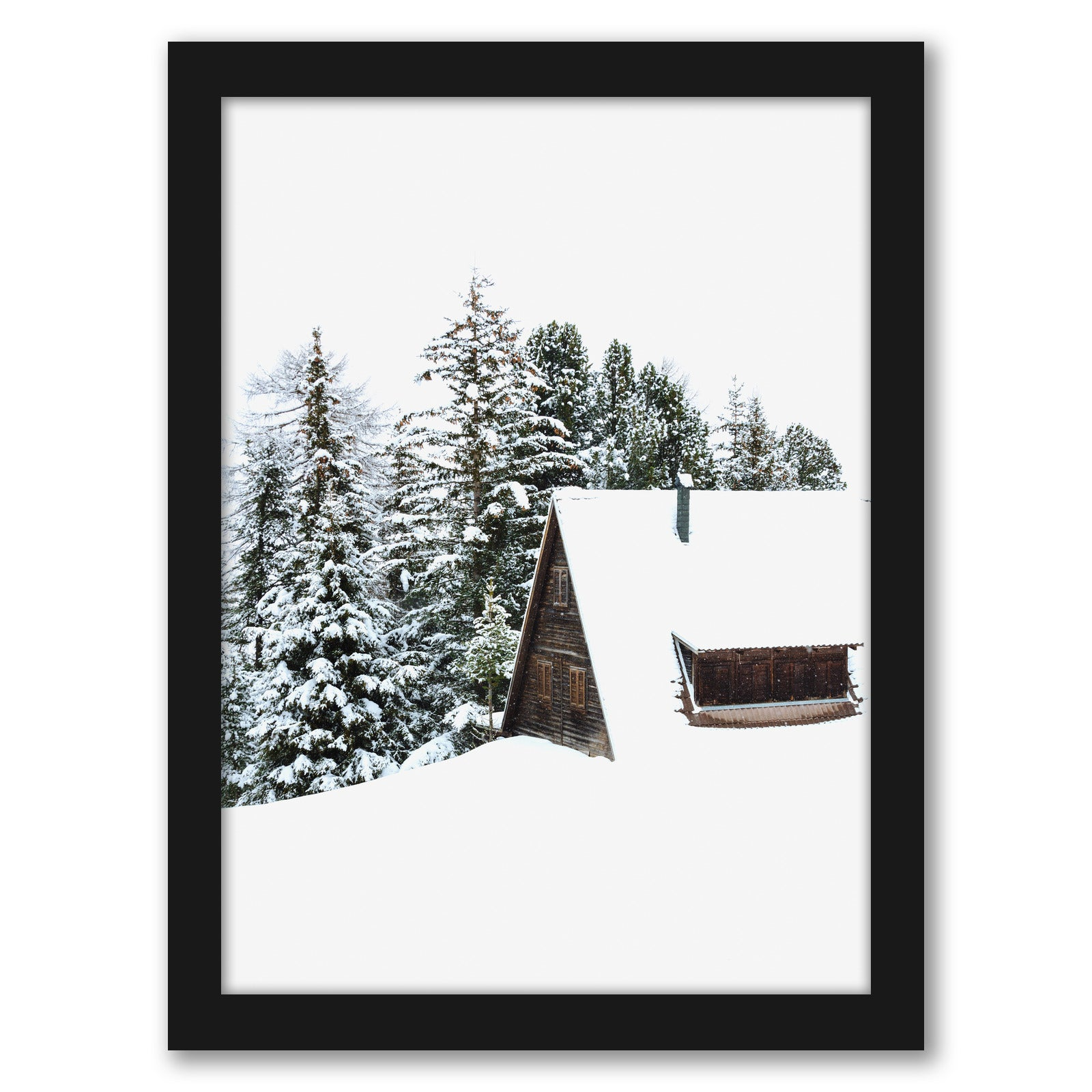 Cabin by Tanya Shumkina - Black Framed Print - Wall Art - Americanflat
