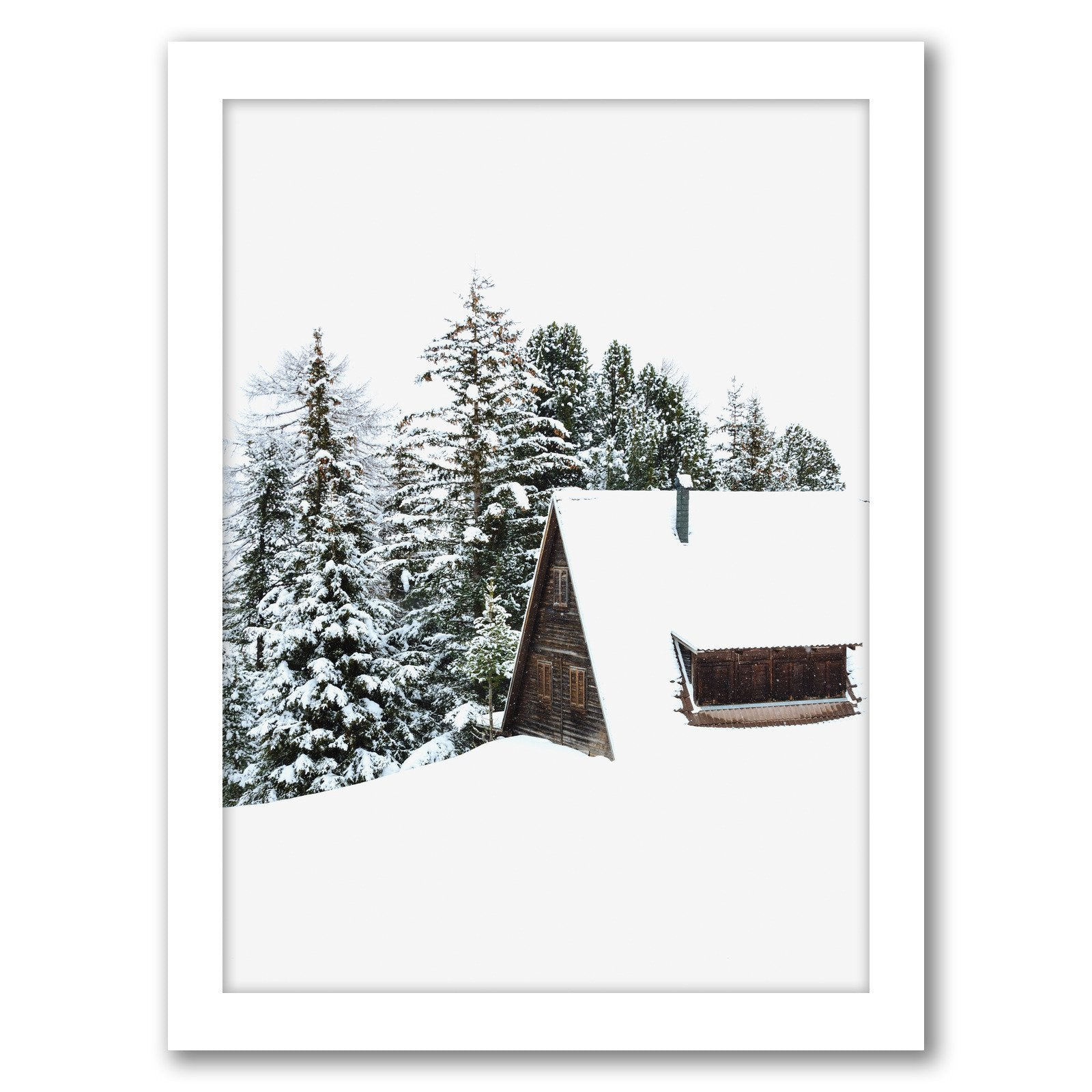 Cabin by Tanya Shumkina - White Framed Print - Wall Art - Americanflat