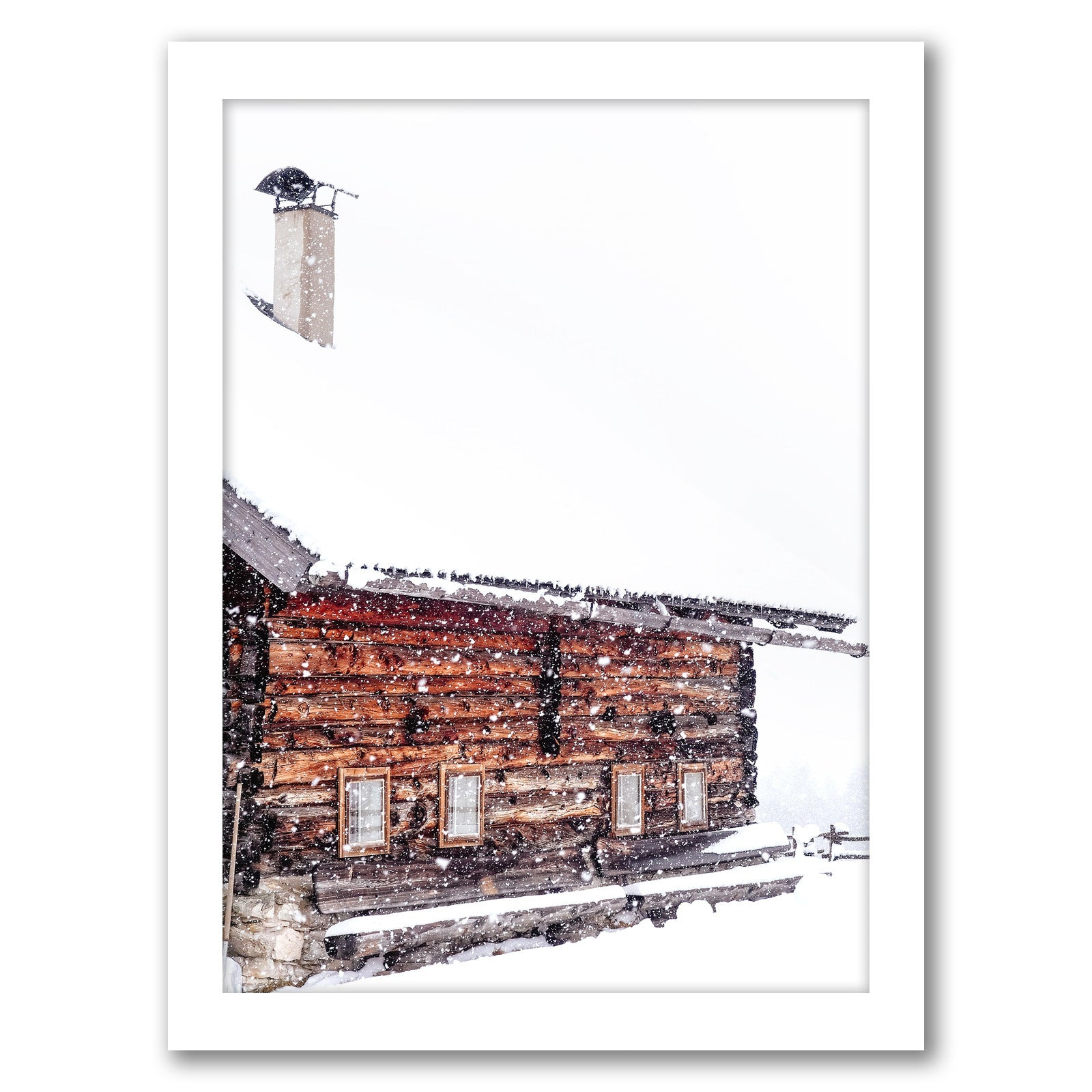 Wooden House by Tanya Shumkina - White Framed Print - Wall Art - Americanflat