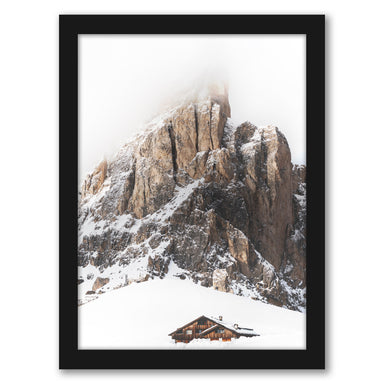 Winter Holidays In Mountains by Tanya Shumkina - Black Framed Print - Wall Art - Americanflat