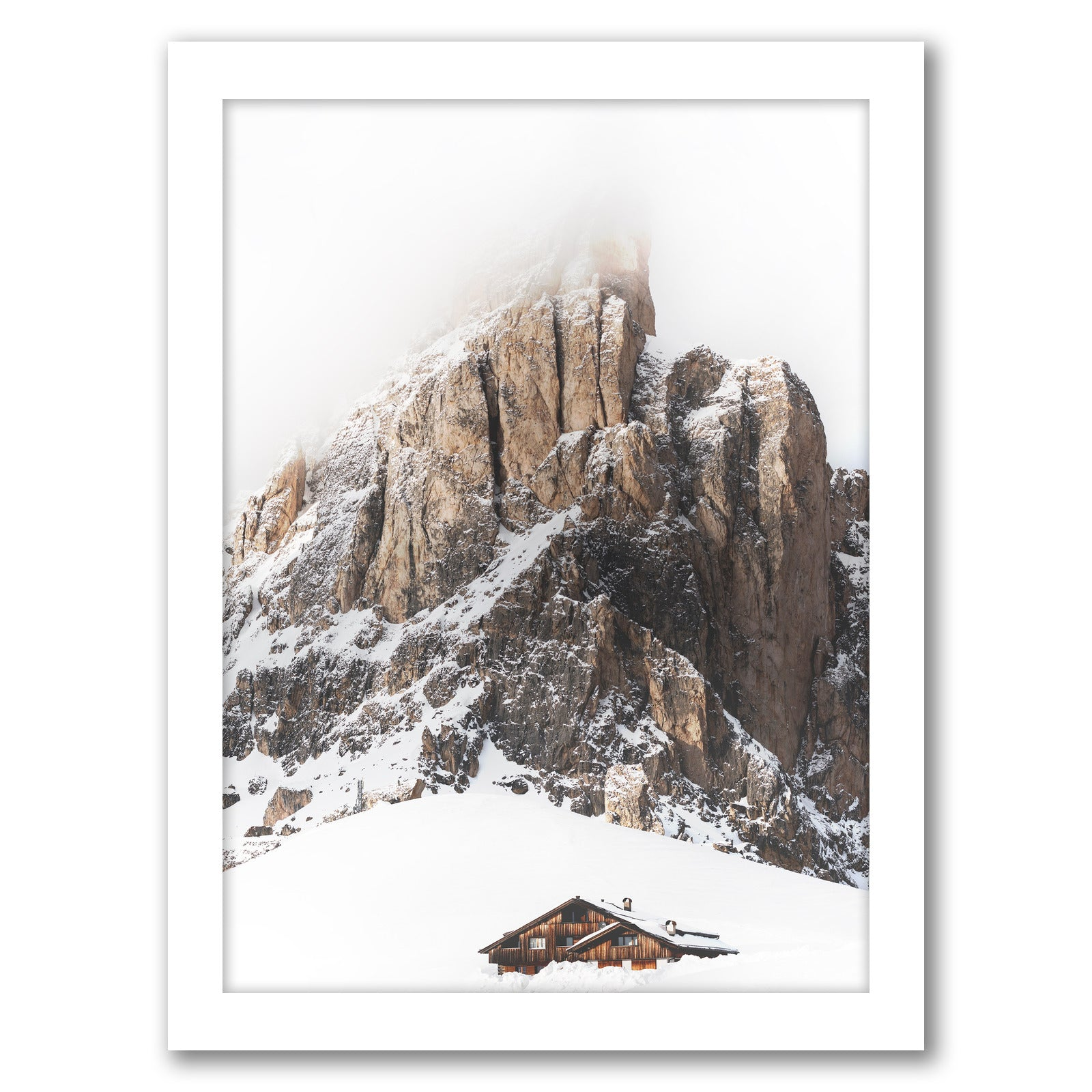 Winter Holidays In Mountains by Tanya Shumkina - White Framed Print - Wall Art - Americanflat
