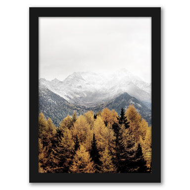 Snowy Mountain by Tanya Shumkina - Black Framed Print - Wall Art - Americanflat