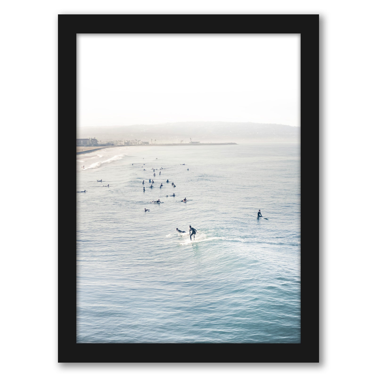 "Surfing Decor by Tanya Shumkina - Black Framed Print, Wall Art, Tanya Shumkina, 8"" x 10"""