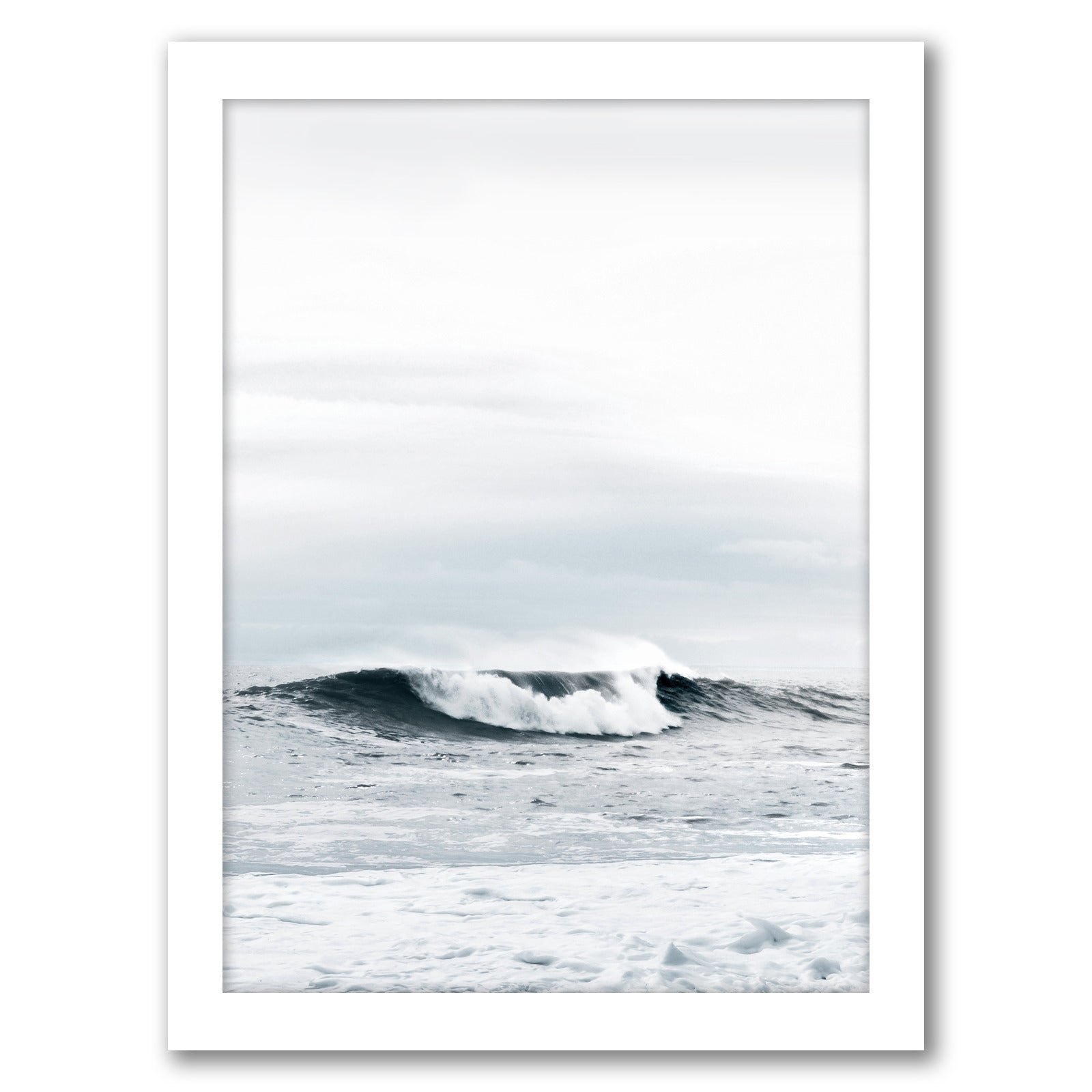 "Wave by Tanya Shumkina - White Framed Print, Wall Art, Tanya Shumkina, 8"" x 10"""