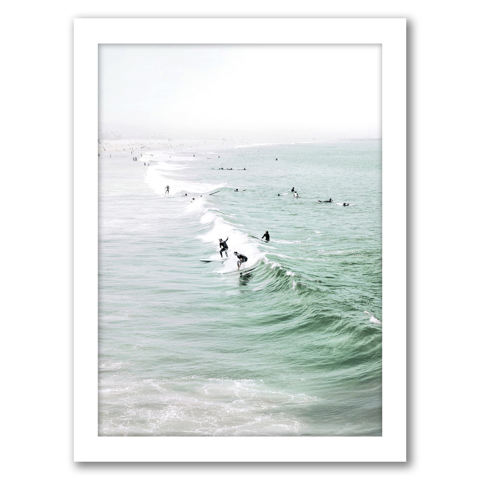 Summer California Beach by Tanya Shumkina - White Framed Print - Wall Art - Americanflat