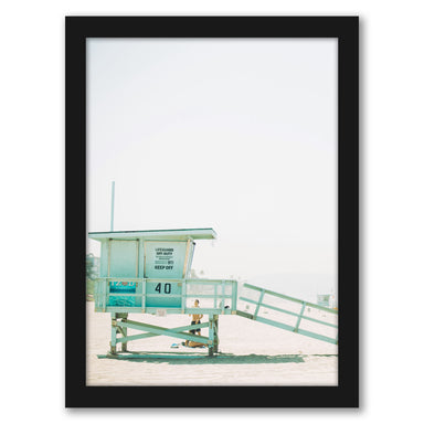 Pastel Lifeguard by Tanya Shumkina - Black Framed Print - Wall Art - Americanflat