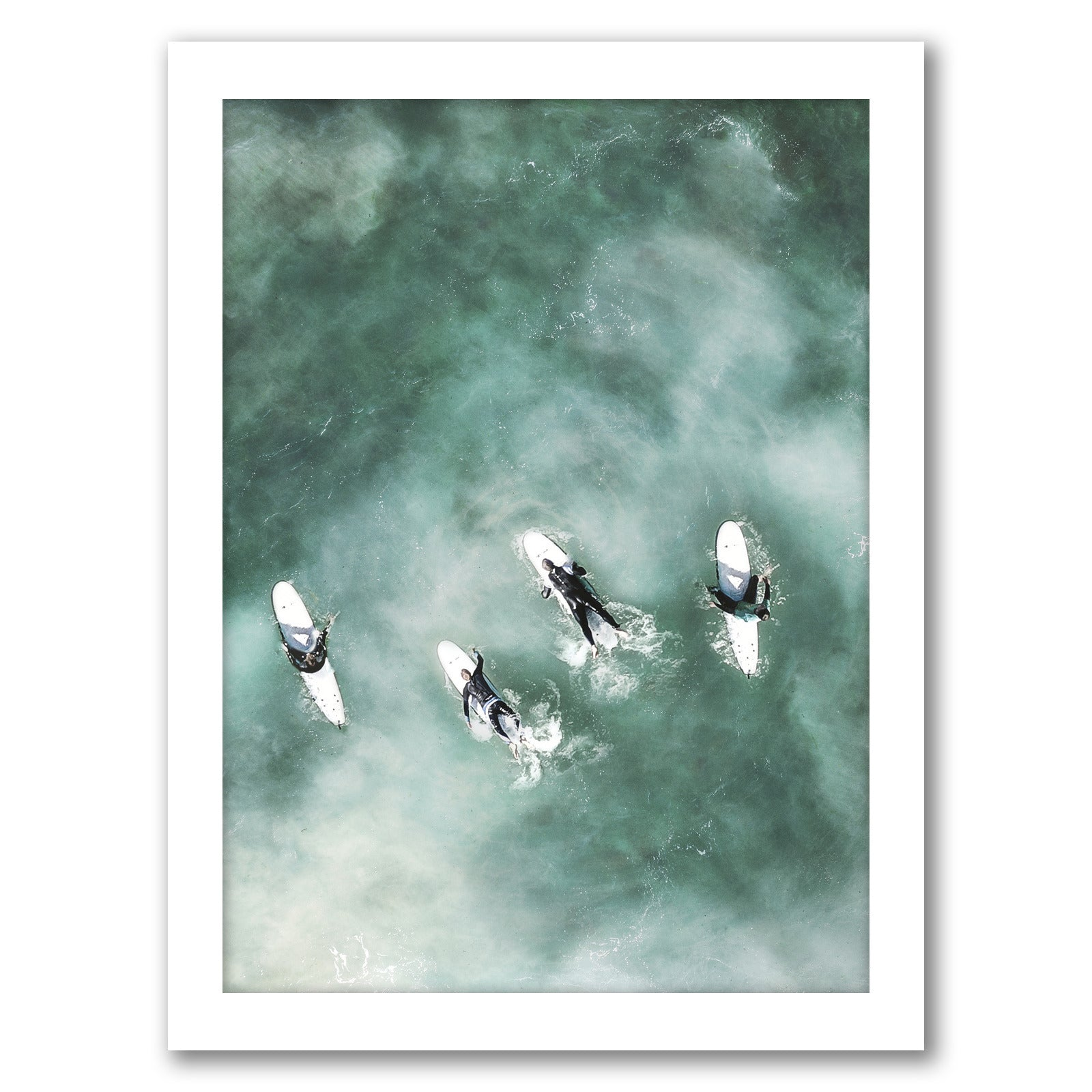 Surfers Rest by Tanya Shumkina - White Framed Print - Wall Art - Americanflat
