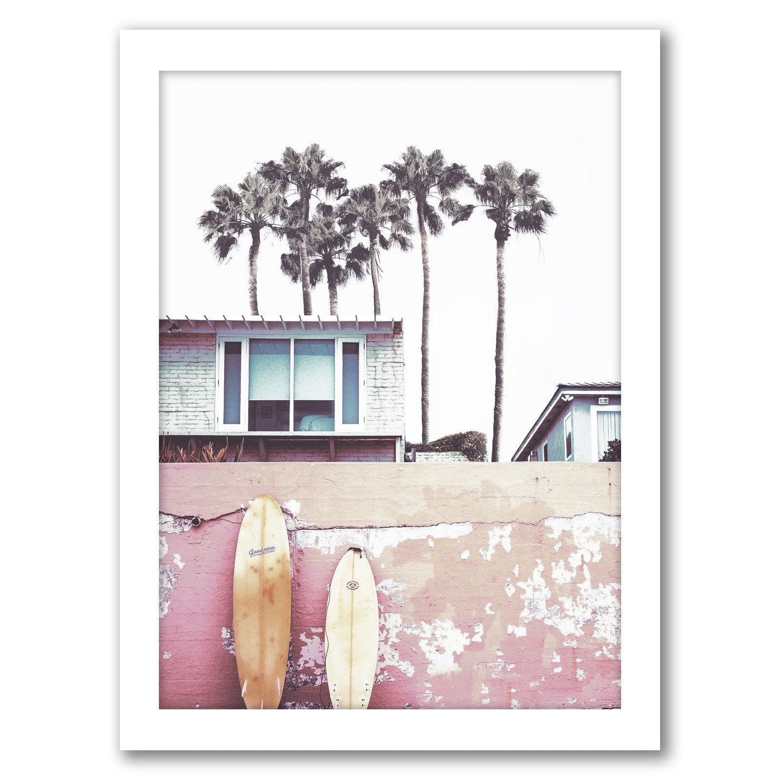 California Surf by Tanya Shumkina - White Framed Print - Wall Art - Americanflat