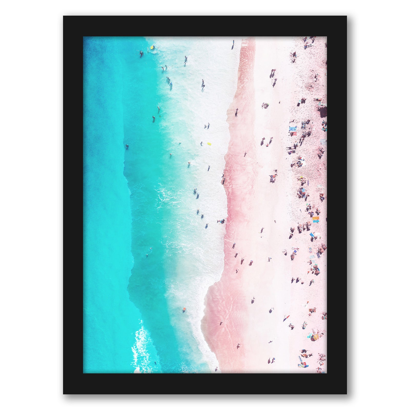 Coastal Pink by Tanya Shumkina - Black Framed Print - Wall Art - Americanflat