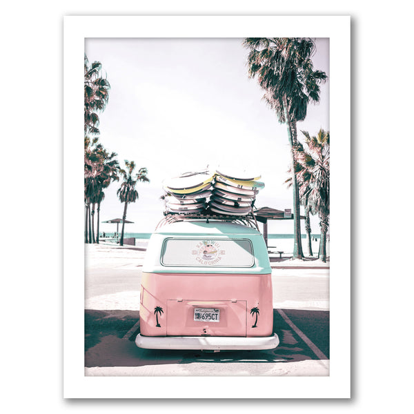 "Retro Bus by Tanya Shumkina - White Framed Print, Wall Art, Tanya Shumkina, 8"" x 10"""