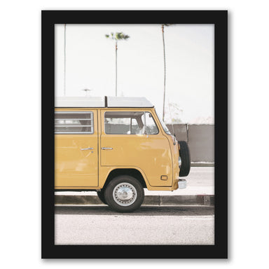 Modern Yellow Van by Tanya Shumkina - Black Framed Print - Wall Art - Americanflat