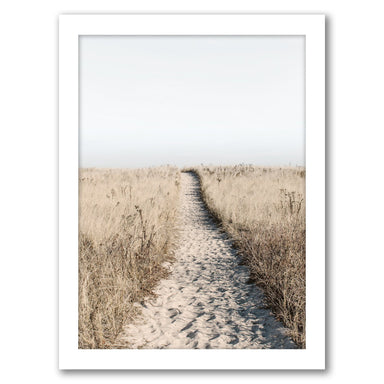 Beach Path Poster by Tanya Shumkina - White Framed Print - Wall Art - Americanflat