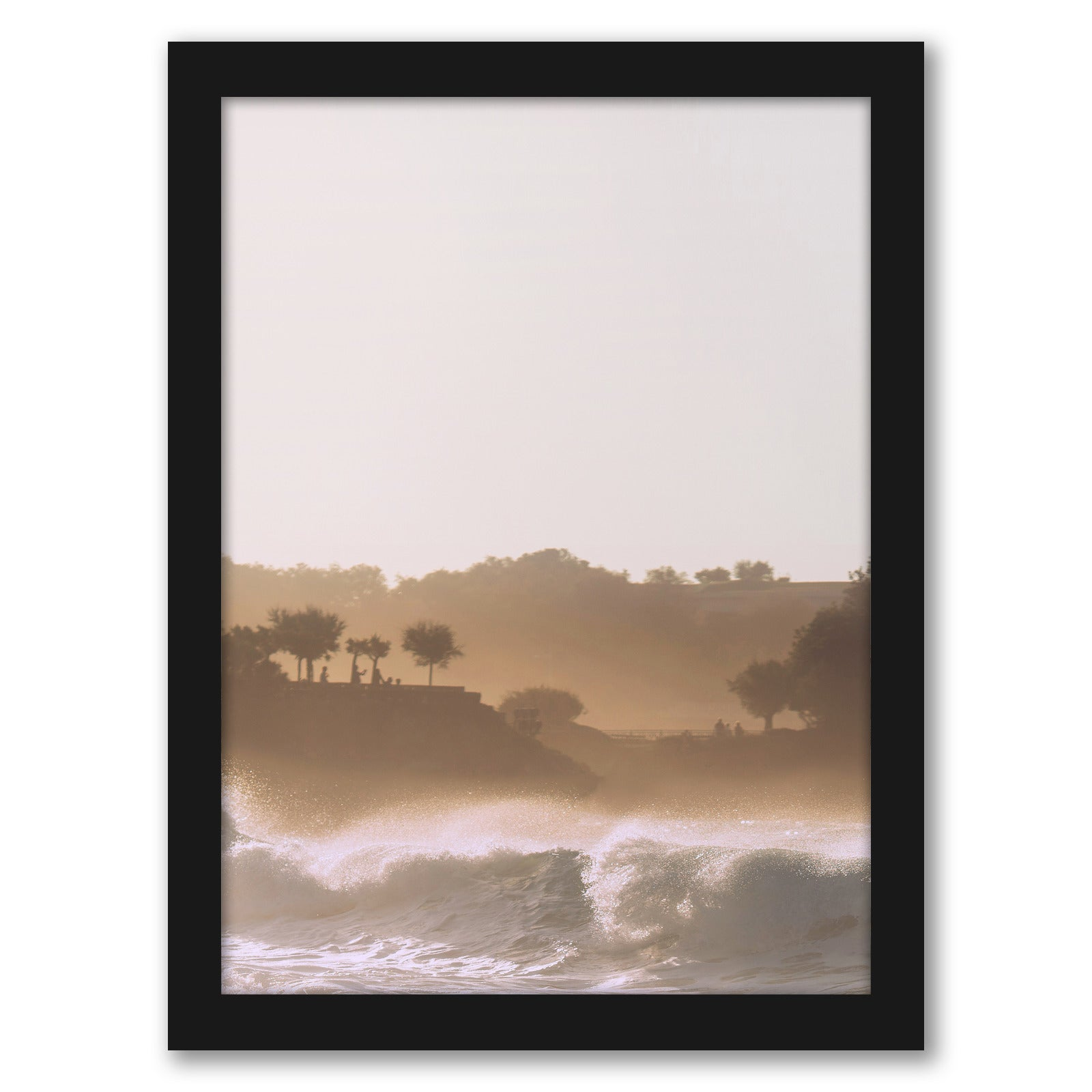 "Sunset On Waves by Tanya Shumkina - Black Framed Print, Wall Art, Tanya Shumkina, 8"" x 10"""